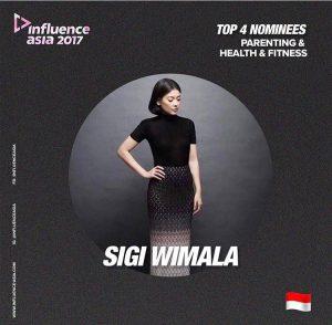 Sigi Wimala menjadi nominasi di ajang penghargaan Influence Asia 2017.