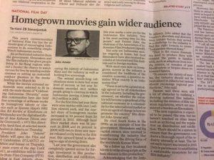 Rubrik koran Jakarta Post