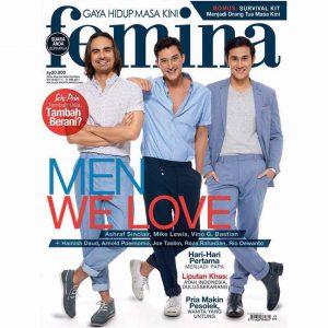 Vino G Bastian di cover majalah Femina.