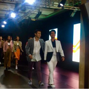 Dion Wiyoko dan Morgan Oey Di Men's Fashion Week 2017