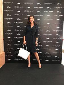 Aline Adita di opening store Long Champ